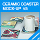 Ceramic Coaster Mock-up v5 - GraphicRiver Item for Sale