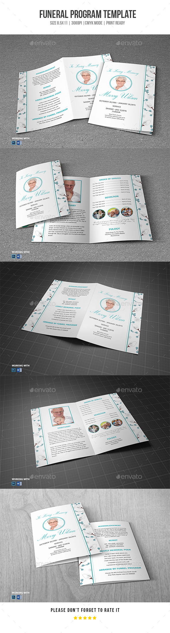 GraphicRiver Funeral Program Template Vol 36 20298235