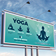 Yoga and Meditation Billboard Template