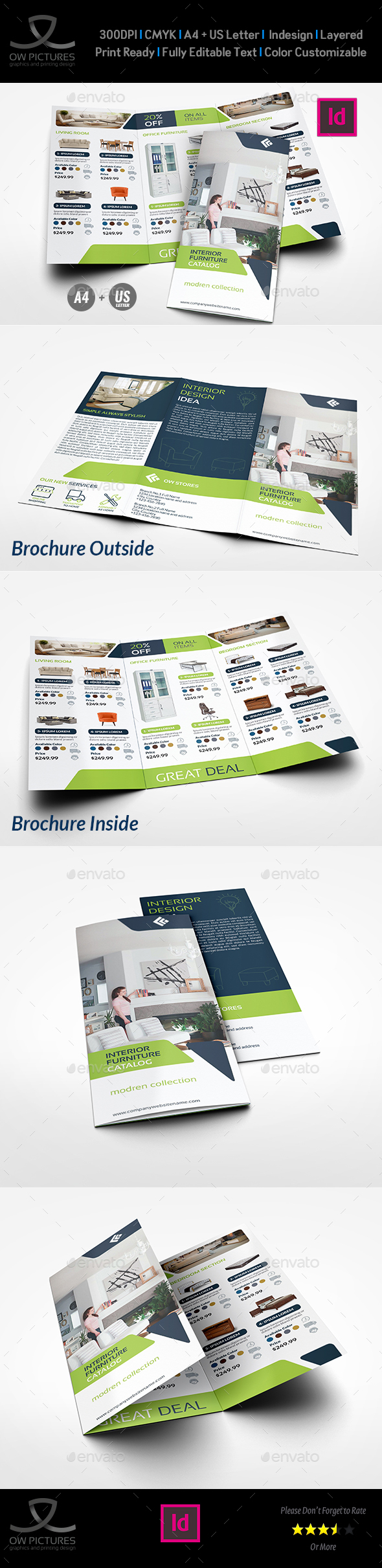 Furniture Products Catalog Tri-Fold Brochure Template Vol.2 - Catalogs Brochures