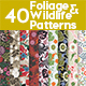40 Foliage and Wildlife Patterns - GraphicRiver Item for Sale