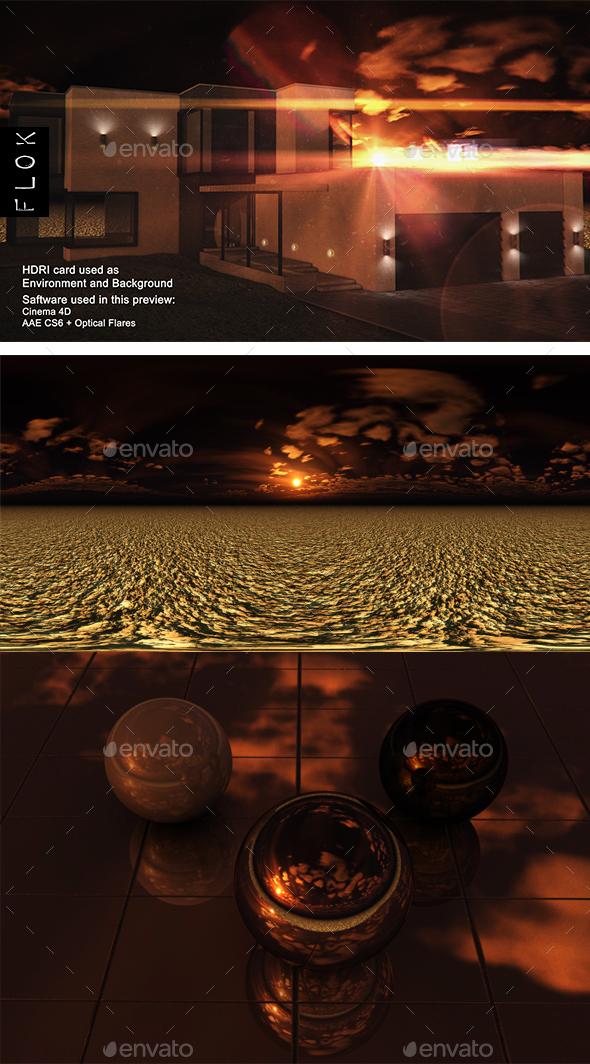 Sunset Desert 100 - 3DOcean Item for Sale