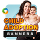 Child Adoption Banner Set