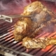 Chef Prepares Beef Steak   Video: Flips Meat in Grill Charcoal Oven. Cooking Process on Barbec