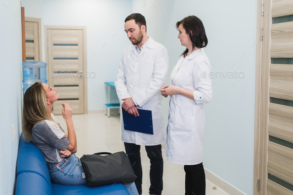 Contact with patient is very important for create positive thinking - Stock Photo - Images