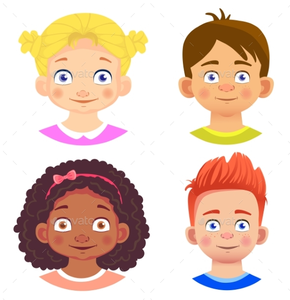 GraphicRiver Set of Girls and Boy Character 20299129