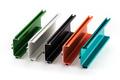 Samples of colorful aluminum profiles