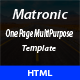 Matronic - One Page MultiPurpose Template - ThemeForest Item for Sale