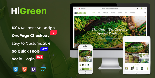 HiGreen - Multipurpose OpenCart Theme for Online Shop - OpenCart eCommerce