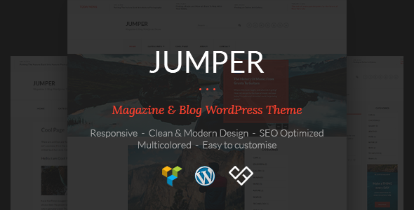 ThemeForest Jumper Magazine & Blog WordPress Theme 19727027