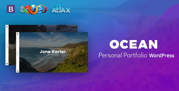 Ocean - Personal Portfolio WordPress Theme