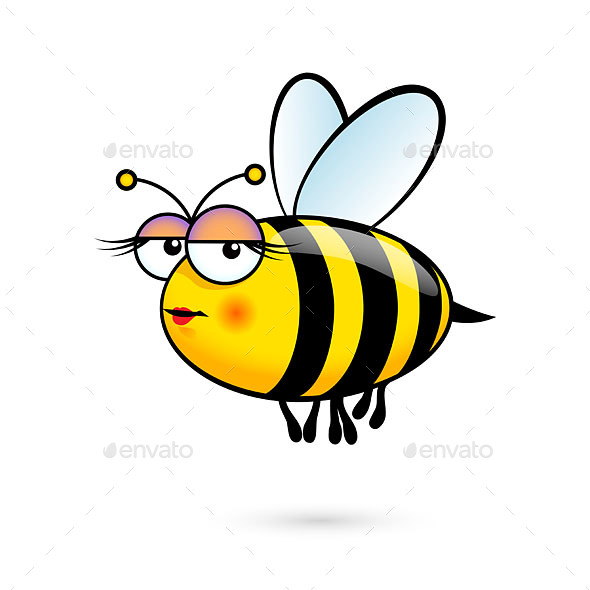 Cartoon Bee - Animals Characters
