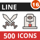 500 Vector Filled Line Icons Bundle (Vol-16) Nulled