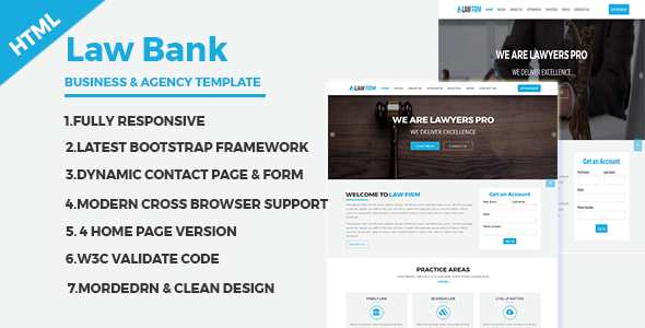 LawBank - Business and Agency Responsive HTML Template - Retail Site Templates