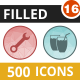 500 Vector Filled Low Poly Icons Bundle (Vol-16) Nulled