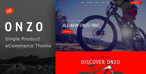 Onzo - Single Product & Bike Shop eCommerce Theme