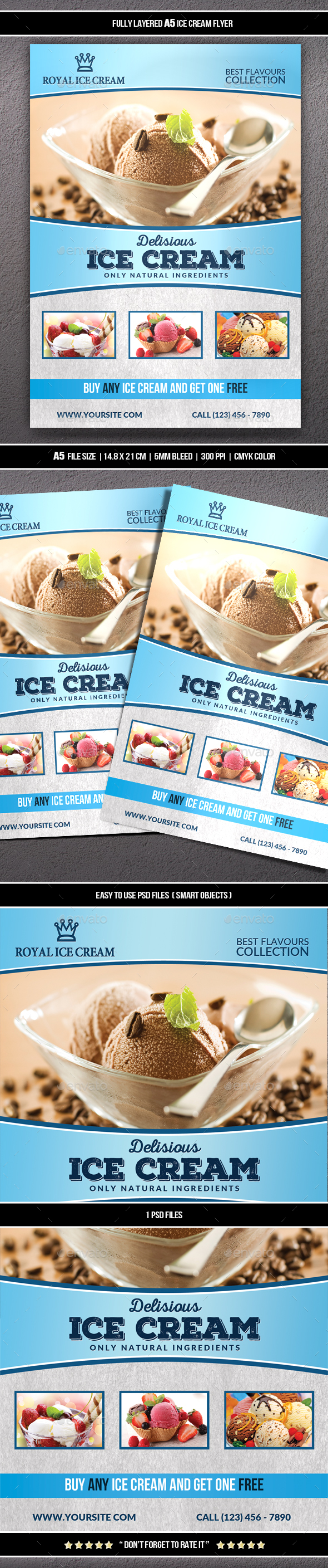 GraphicRiver Ice Cream Flyer 20299793
