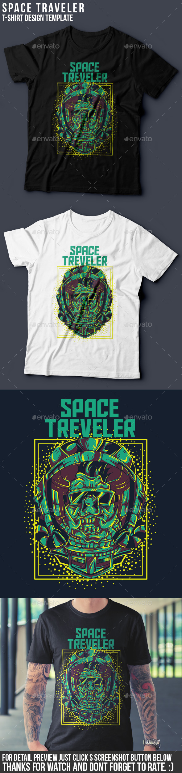 Space Traveler T-shirt Design