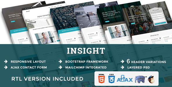INSIGHT - Multipurpose Responsive HTML Landing Pages