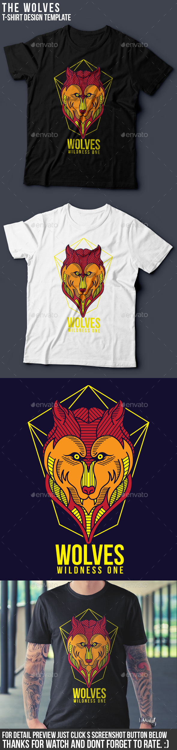 The Wolves Part I T-Shirt Template - Grunge Designs
