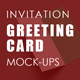 Invitation / Greeting Card Mock-Up - GraphicRiver Item for Sale