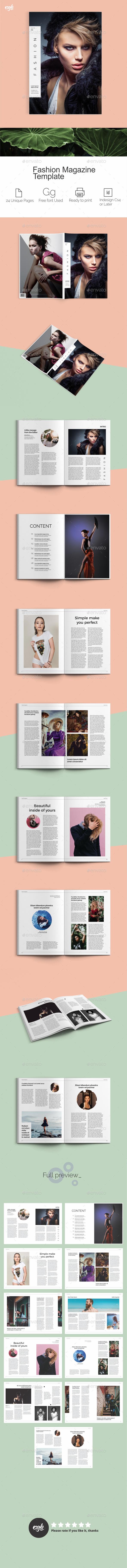 GraphicRiver Fashion Magazine Template 20302166