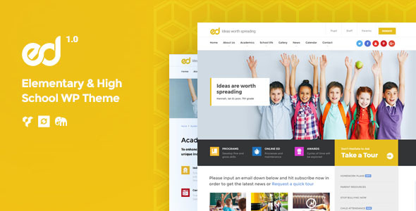 Ed School – Elementary, Middle and Highschool WordPress Theme - Education WordPress