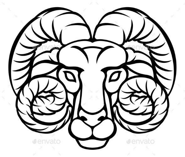 GraphicRiver Aries Zodiac Sign Ram 20302355