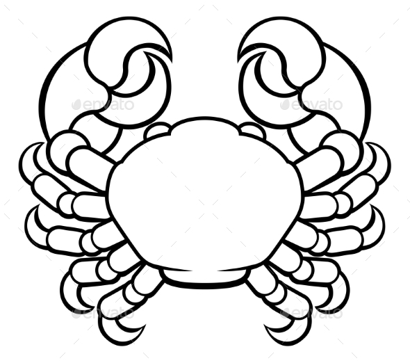 Crab Cancer Horoscope Zodiac Sign - Miscellaneous Vectors