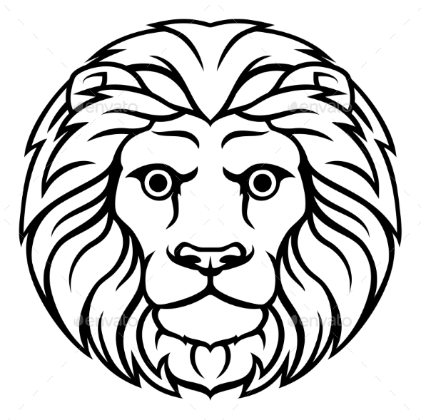 Leo Lion Zodiac Horoscope Sign - Miscellaneous Vectors