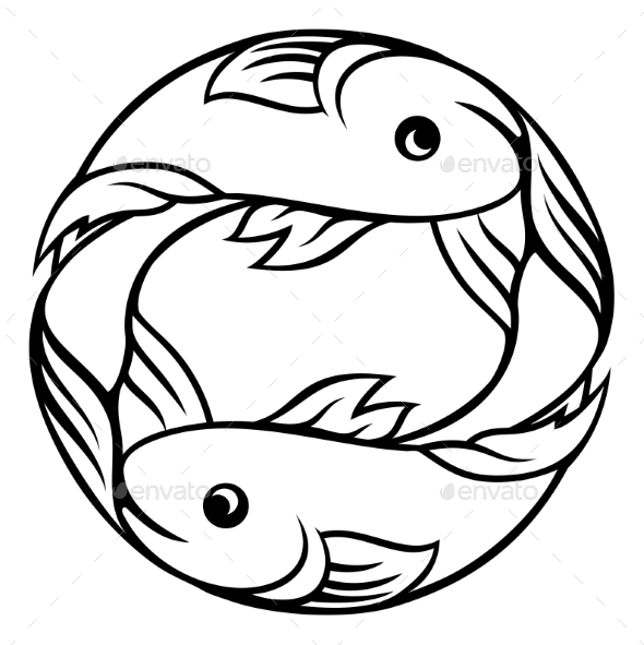 Zodiac Signs Pisces Fish - Miscellaneous Vectors