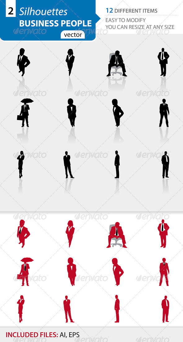 Business people silhouettes Set2 - Business Conceptual