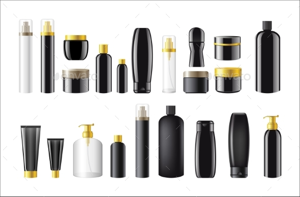 Cosmetic Package - Realistic Vector Set of Objects - Man-made Objects Objects