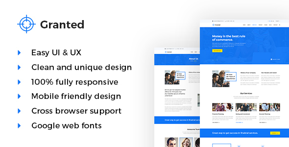 Granted - Corporate & Financial HTML5 Template