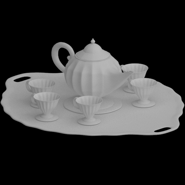3DOcean Fancy Tea Set 20302539