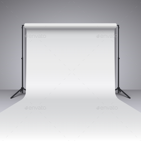 Empty White Photo Studio Backdrop - Miscellaneous Vectors