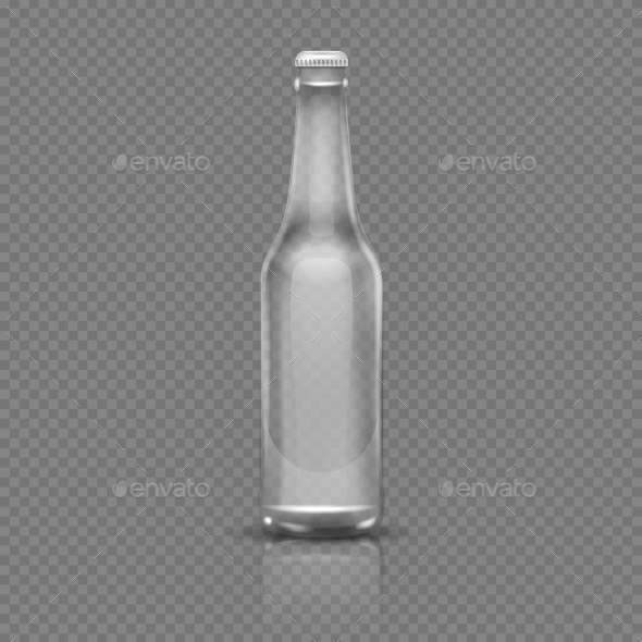 GraphicRiver Empty Transparent Beer or Water Bottle 20302616