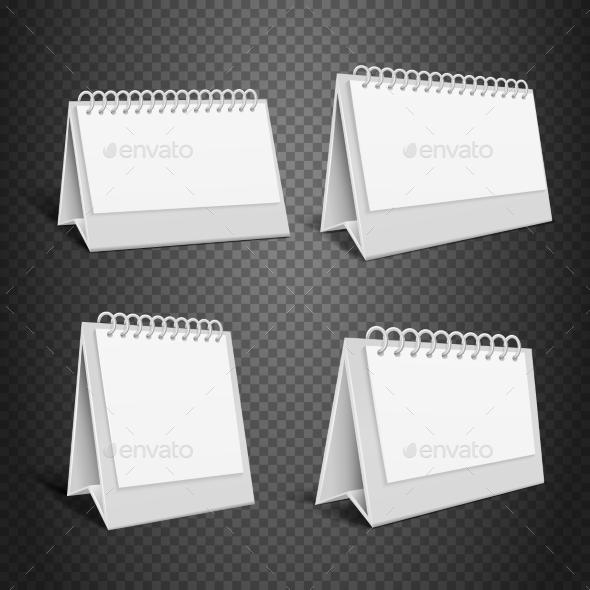 Blank Desk Paper Calendar - Man-made Objects Objects