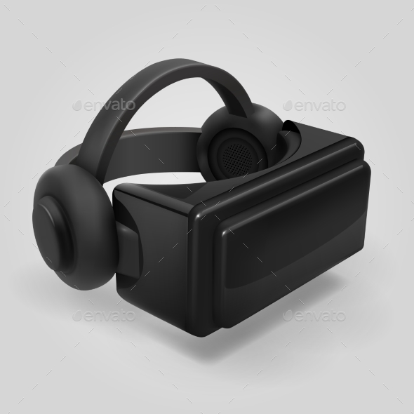 Virtual Reality 3d Futuristic Glasses Display - Man-made Objects Objects