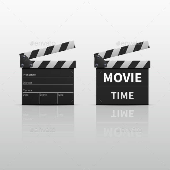 Movie Clapperboard or Film Clapper Isolated - Man-made Objects Objects