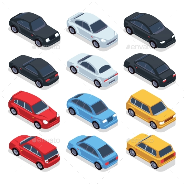 Isometric 3D Cars - Man-made Objects Objects
