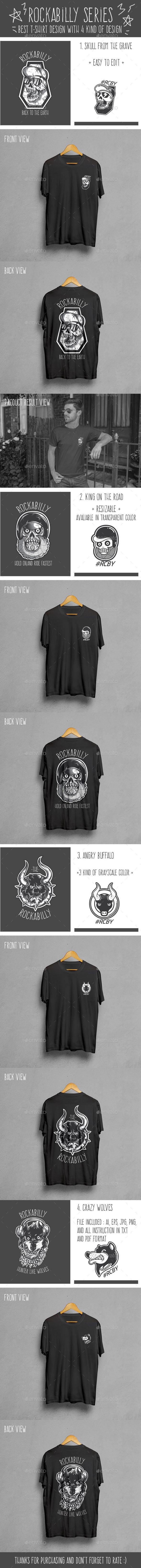 Rockabilly Series T-Shirt Design - Grunge Designs