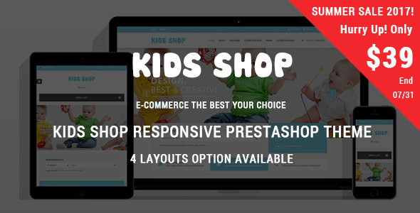 Kids Shop - Responsive Prestashop Theme