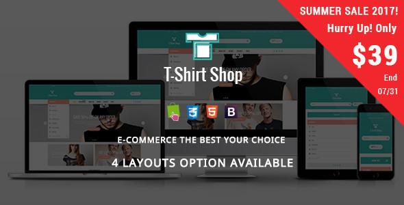 Tshirt Shop - Fashion Responsive Prestashop Theme