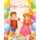 Happy Birthday, Princess and Prince, Greeting Card