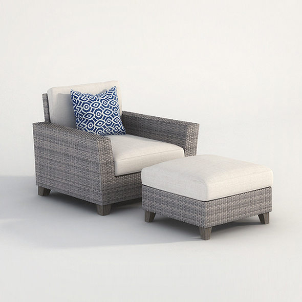 Vray Ready Armchair with longue - 3DOcean Item for Sale