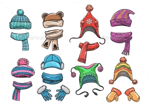 Winter Clothes for Kids - Man-made Objects Objects