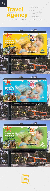 Travel Billboard Banner - Signage Print Templates