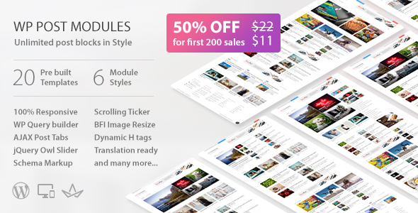 CodeCanyon WP Post Modules for NewsPaper and Magazine Layouts KingComposer Addon 20303086
