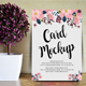 Floral Wedding Card Mockup